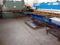 Sheet bending and shearing department